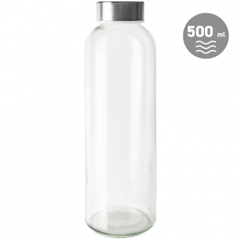 Bouteille à personnaliser en verre 500 ml