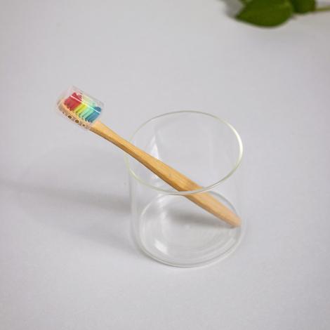Brosse à dent publicitaire en bambou - Wizard