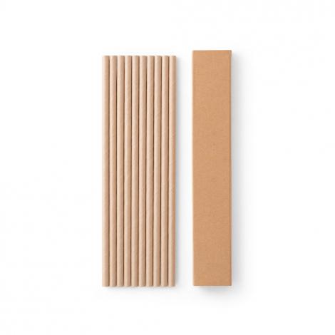 10 pailles en papier kraft personnalisables LAMONE