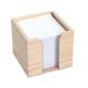 Cube bois publicitaire avec papier recyclé 10x10 cm