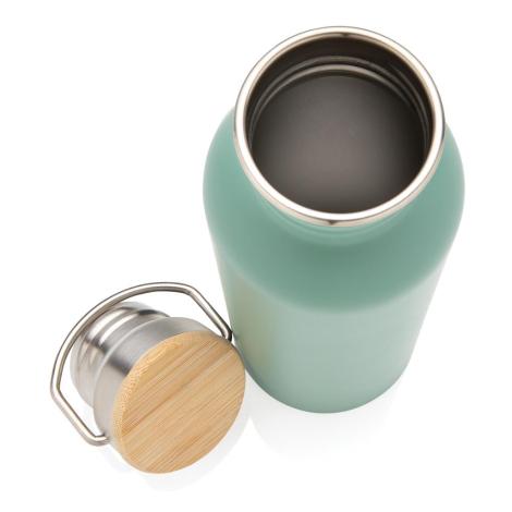 Bouteille publicitaire couvercle en bambou 700 ml