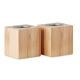 2 bougies et support en bambou personnalisé PYRAMIDE