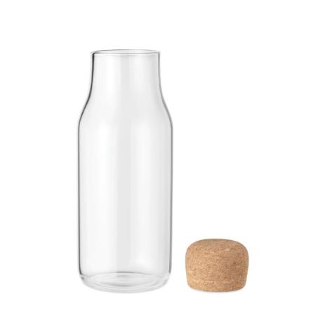 Carafe d'eau personnalisée verre et liège 600 ml OSNA
