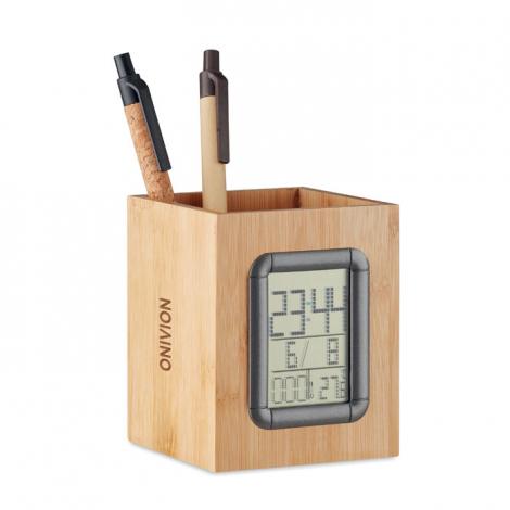 Porte-stylo numérique publicitaire en bambou MANILA