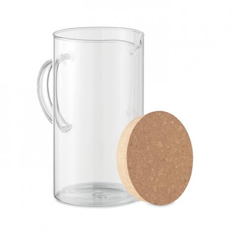 Pichet d'eau personnalisée verre et liège 1L OSNA BOLD