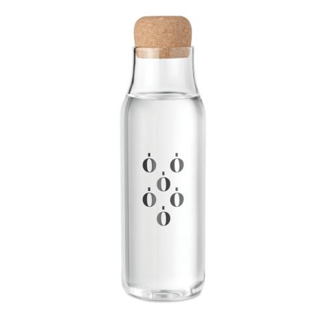Carafe d'eau personnalisée verre et liège 1L OSNA