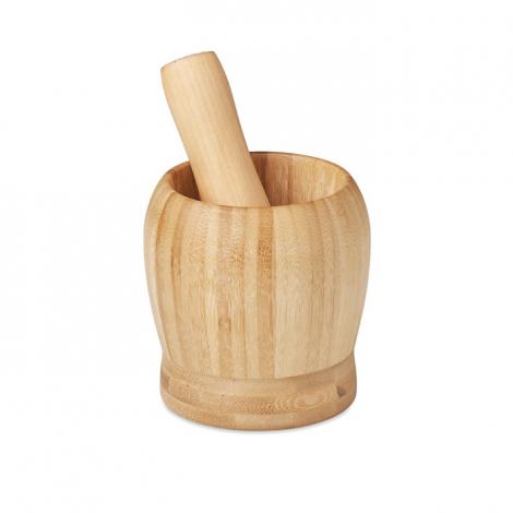 Mortier et pilon en bambou publicitaire PESTO