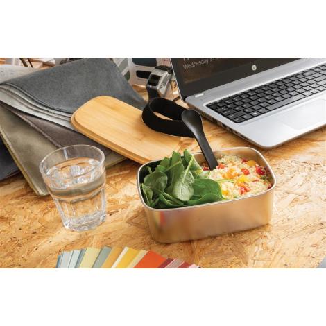 Boîte à Lunch publicitaire en bambou avec cuichette