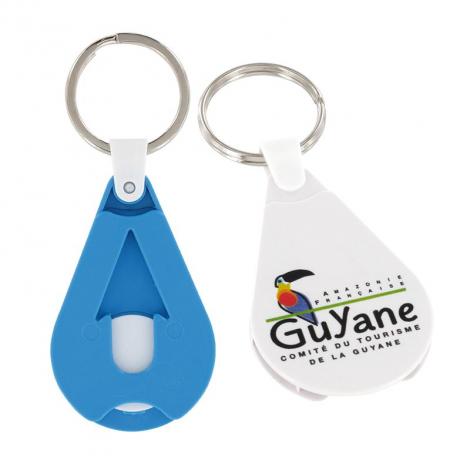 Porte-clés avec jeton personnalisable