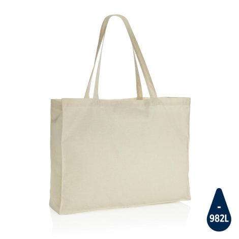 Maxi tote bag coton recyclé publicitaire 145 gr Impact