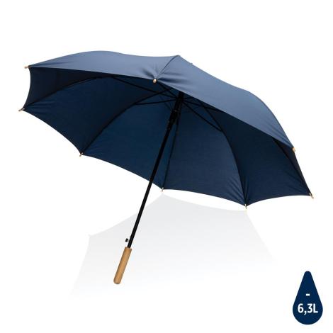 """Parapluie publicitaire 27"""" rPET et bambou Impact"""