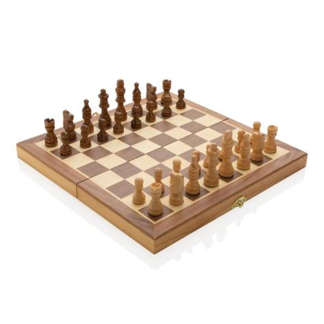 Jeu d'échecs pliable en bois personnalisé