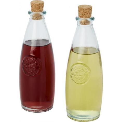 Set huile et vinaigre en verre recyclé promotionnel