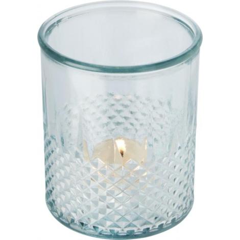 Porte-bougie en verre recyclé publicitaire ESTREL