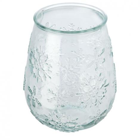 Porte-bougie en verre recyclé publicitaire FARO