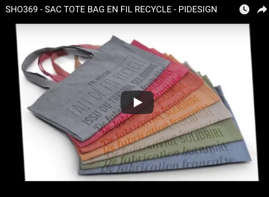 Video sur un sac publicitaire made in france